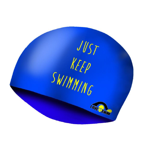 Gorro Lycra  Just Keep Swimming Dots LXS