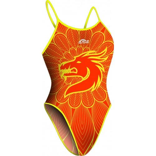 Bañador Chica TF Dragón Naranja
