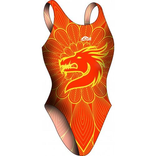 Bañador Chica TA Dragón Naranja