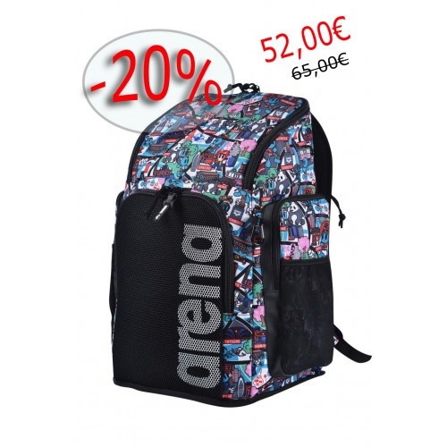ARENA Bolsa Team Backpack 45 Allover