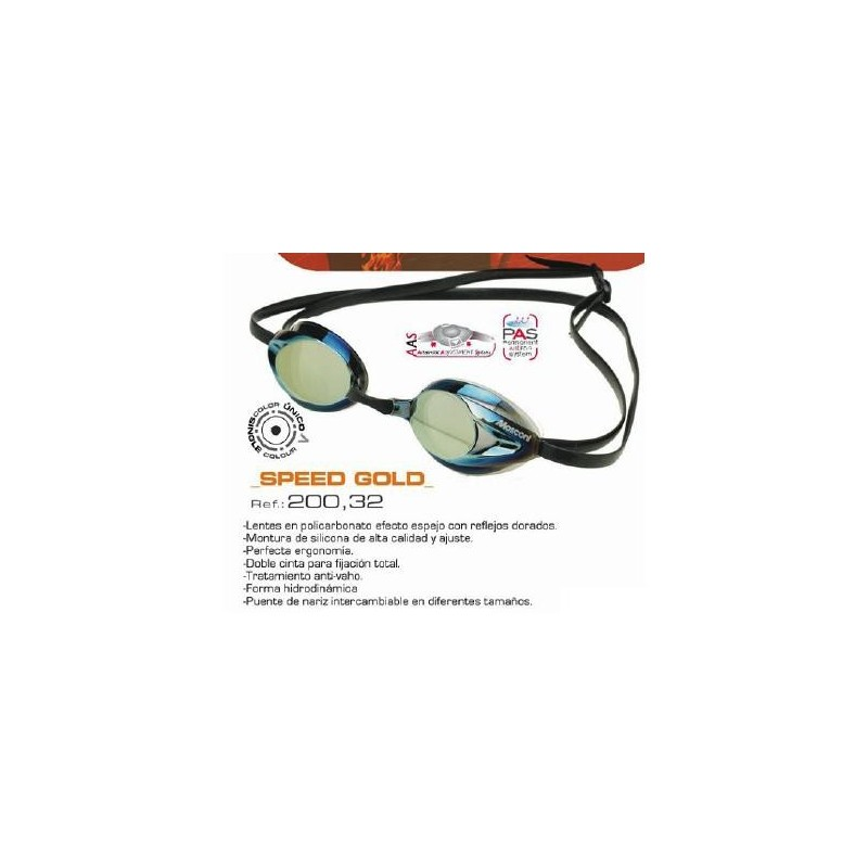 Gafas Mosconi Speed Gold